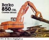 Barko 850 CRL  Crawler Mount
