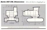 Barko 850 CRL Dimensions