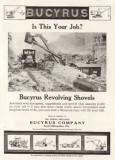 1921 Bucyrus Ad 'Revolving Shovels'