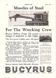 1927 Bucyrus Ad Railroad Crane