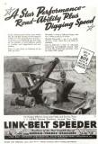 1945 Link-Belt Ad Rubber  Mtd. Shovel