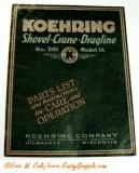 1927 Koehring K501 Parts / Ops Manual