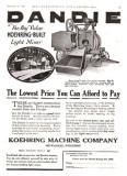 1920 Koehring Ad   Concrete Mixer