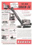 1950's Lorain Ad Model 56 Shovel