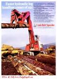 1973 Link-Belt  Ad  'Faster Hydraulics'