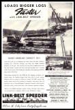 1947 Link-Belt Ad 'Loads Bigger Logs'