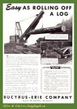 1948 Bucyrus Ad 'Rolling Off a Log'