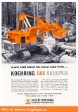 1965 Koehring Ad 'Model 505 Skooper'