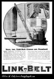 1925 Link-Belt Ad 'Rail Mtd Crane'