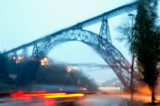 Ponte Maria Pia à chuva