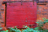 Sliding Red Delivery Door