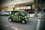 the little green car... Brits love lawn...