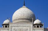 Main dome and finial on the Taj Mahal mausoleum