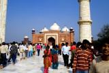 The mosque at the Taj Mahal complex