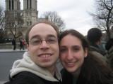 me, Francine in front of Notre Dame