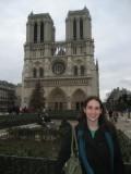 Francine in front of Notre Dame