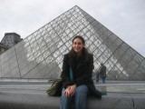 Francine in front of the Pyramid