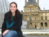 Francine in front of the Louvre