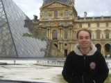 me in front of the Louvre