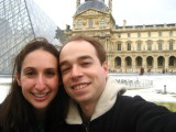 us in front of the Louvre