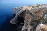 A leg on the Blue Grotto