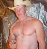 Redheaded Irish Man Musclebear Hunky Stocky Silver Daddie