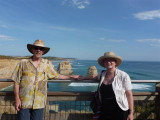 John and Elaine at Twelve Apostles Visitor centre view