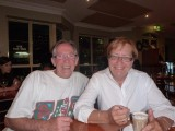 John and Marianne at our farewell meal