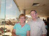 Marianne and John at Melbourne Airport