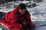 my husband Tadek on the snow