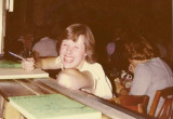 Eileen Fink at yearbook signing (Bill Cullinan)