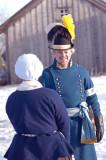Officer och allmogekvinna