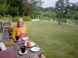 Breakfast at our resort