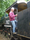 Historic train at Erawan Falls
