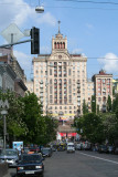 Typical Soviet era Stalinist-style building that resembles others that I have seen in E. Europe.