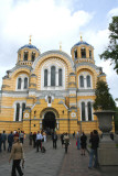 Close-up of Saint Volodymyr's Cathedral (a lot of people were there because it was Sunday morning).