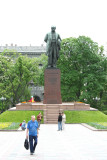 Monument to Taras Shevchenko (1814-1861) who was Ukraine's national poet and a famous artist.