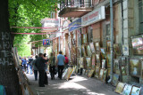 St. Andrews Descent is the Montmartre of Kiev, where artists display their talents.