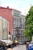 A continuation (of lower part) of St. Andrew's Descent. The street is called Andreevsky Street.