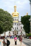 Upper Lavra yard as you enter through the Holy Gate of the Pechersk Lavra Monastery.