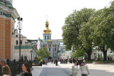 View looking back at the Golden Gate from inside of the Lavra.