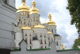View of the Uspensky Cathedral in the Lavra.