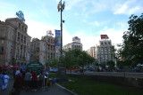 Europe Day holiday activity around Independence Square near the Hotel Kozatsky (where I stayed).