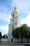 Closer view of the bell tower of Saint Sophia Cathedral.