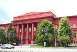 The main Red Building of the National University named after Taras Shevchenko (1814-1861).