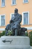 Monument to Mykhailo Grushevskyj in front of Teacher's House. He was Ukraine's first president.