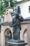 Statue in courtyard of the Armenian Orthodox Church.