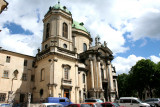 Dominican Cathedral (1772). A pediment sign says, God is our Honor and Glory (their motto).
