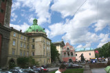 A nice square in Lviv (note the flea market & Ivan Fedoriv statue in the background).