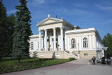 The impressive archeological museum on Rushkinskaya Street.